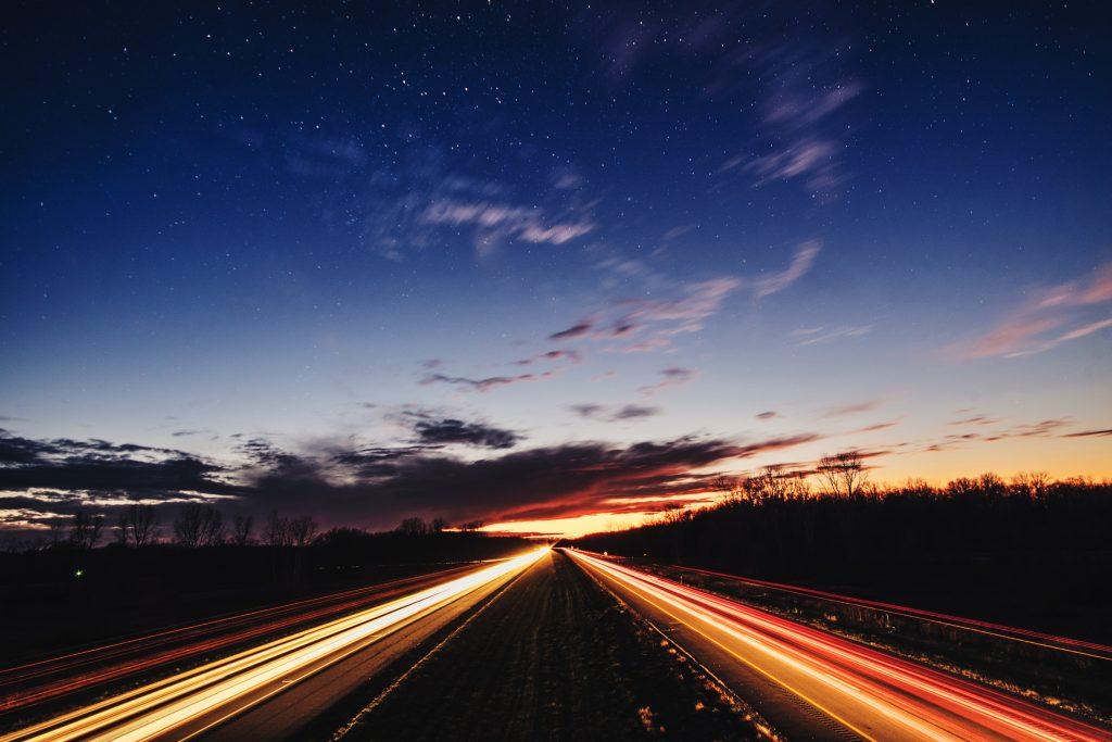 highway-at-sunset-B27GTFA