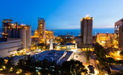 Cement Plant and power sation during sunset
